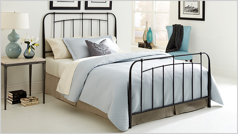 If you purchase a bed set, it includes the headboard, footboard and frame.  Headboard purchases include the headboard and frame. All wrought iron beds  fit ...
