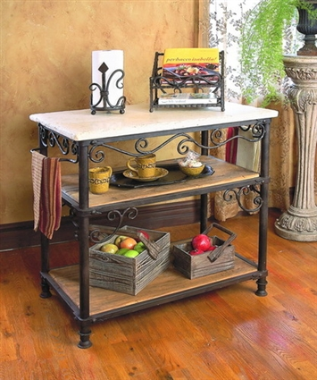 iron kitchen island wrought iron siena rectangle kitchen island by toscana 12729