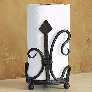 Wrought Iron Siena Paper Towel Holder