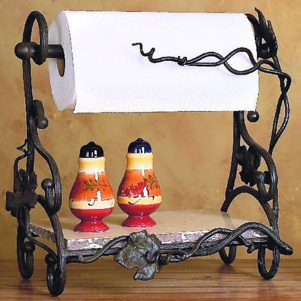 Wrought Iron Paper Towel Rack By Bella Toscana