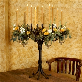 Wrought Iron Grand 6 Vase Candelabra By Bella Toscana