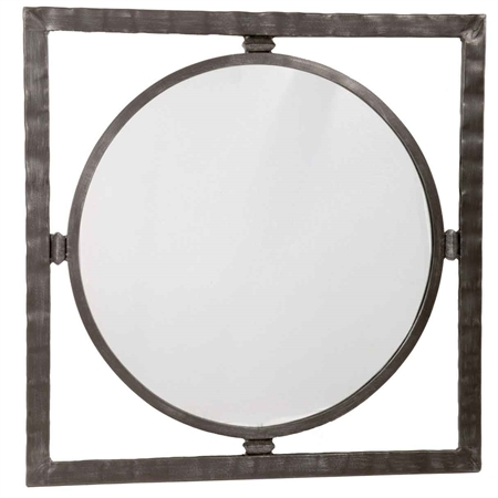 Wrought Iron Wall Mirror Round Forest Hill Wall Mirror