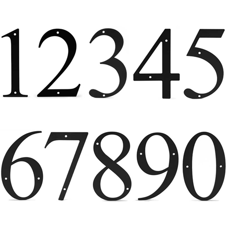 12 Inch House Numbers