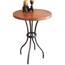Contemporary Wrought Iron Woodland Counter Table 30in