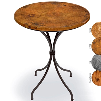 Wrought Iron Italia Counter Height Table 30in Round Top