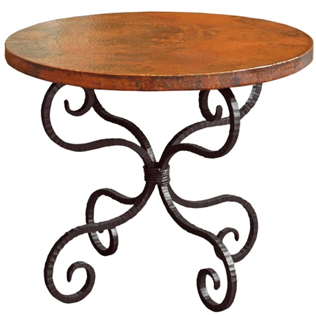 Alexander Wrought Iron End Table With 30in Round Top