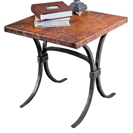 Wrought Iron Salisbury End Table With 24 Quot Square Top