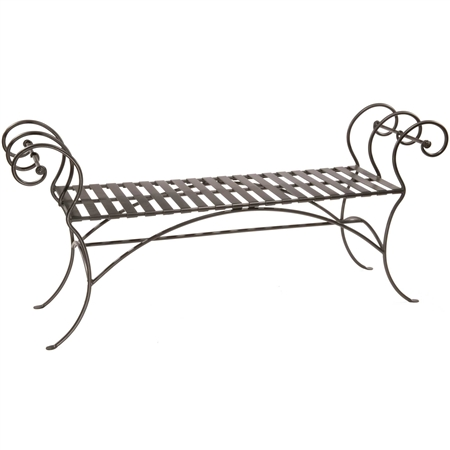 Wrougt Iron 63 Inch Waterbury Bench Without Back Rest