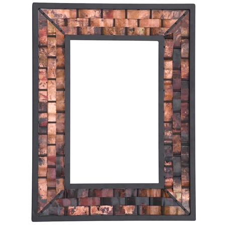 Wrought Iron Amp Copper Wall Mirror Rushton Wall Mirror