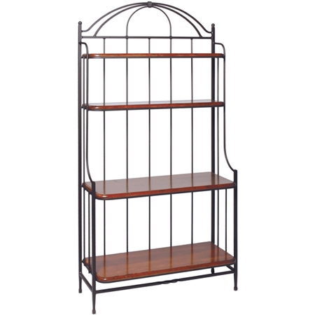 Wrought Iron Blackberry Roads Bakers Rack Charleston Forge