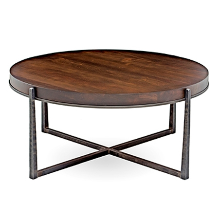 Cooper In Round Cocktail Table Handcrafted In America - Cooper end table