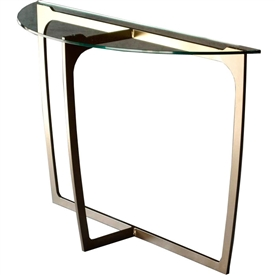 Fontana 45 In Glass Top Console Table Charleston Forge
