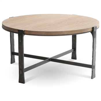 Woodland 36 Quot Round Cocktail Table Hand Forged Iron Table