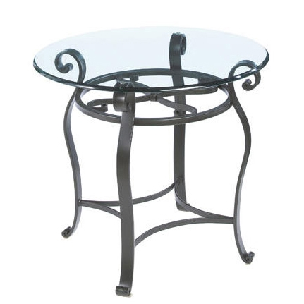 Camino 24 Quot Round Wrought Iron End Table Charleston Forge