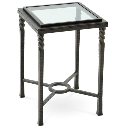 Omega Drink Table With Glass Top By Charleston Forge