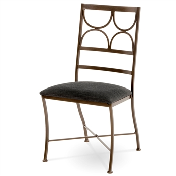 Penelope Wrought Iron Dining Side Chair Charleston Forge