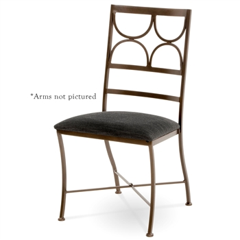Penelope Wrought Iron Dining Chair Charleston Forge