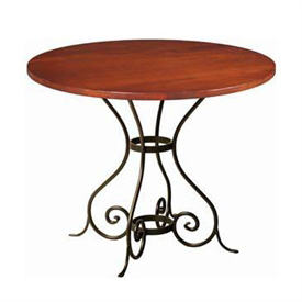 Wrought Iron Euro 36 Quot Round Dining Table Charleston Forge