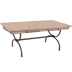 Wrought Iron Legacy Rectangular Dining Table With Napkin