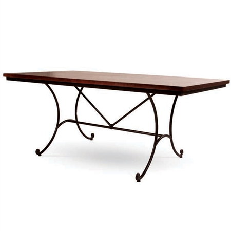 Castleford Wrought Iron Dining Table By Charleston Forge