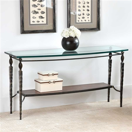 Wrought Iron Winston Console Table By Charleston Forge