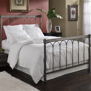 Romano Iron Bed Classic Roman Arched Style Gleam Finish