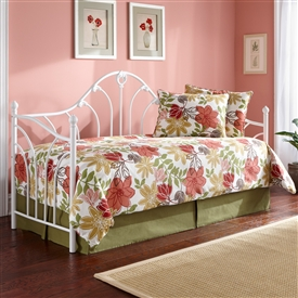 Taryn Iron Daybed Classic Victorian Style Antique White Finish