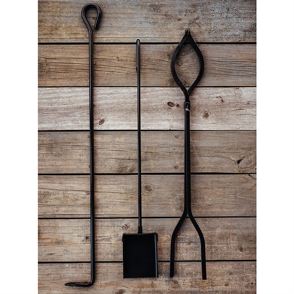 Amish Made Fire Tool Set Timeless Wrought Iron