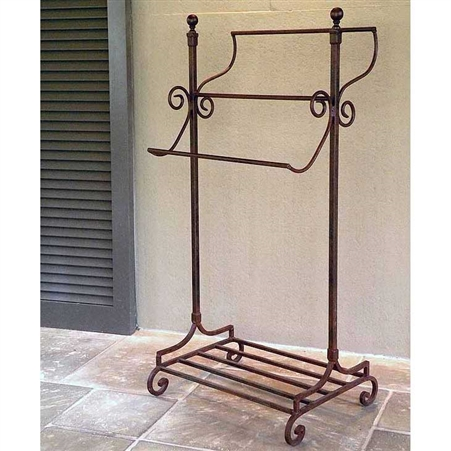 Abbey Road Freestanding Wrought Iron Towel Rack