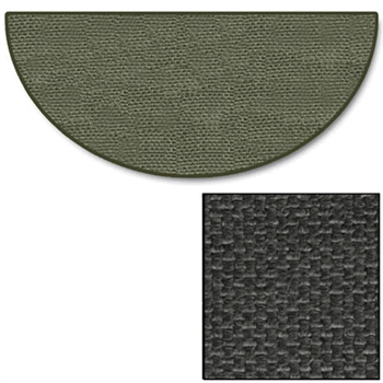 5 Foot Charcoal Half Round Hearth Rug 32 Quot X 60 Quot