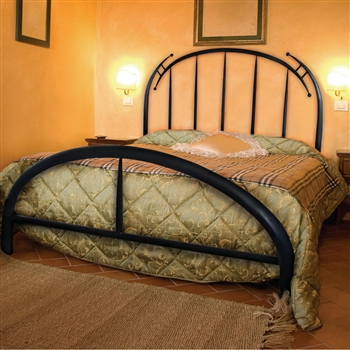 modern pinnacle wrought iron bed queen or king. Black Bedroom Furniture Sets. Home Design Ideas