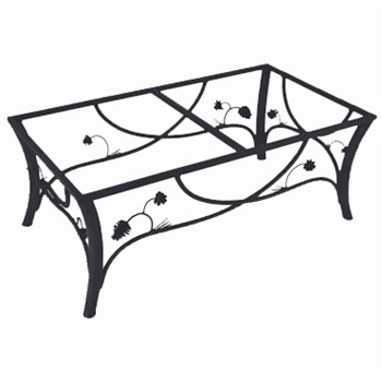 Rustic wrought iron piney woods cocktail table base for Wrought iron cocktail table bases