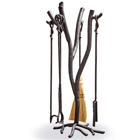 Wrought Iron Southfork Fireplace Tool Set Free Shipping