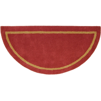 Sangria Half Round Fireplace Rug Fire Resistant