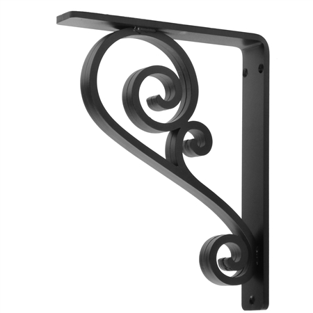 "Classic Scroll Wrought Iron Corbel | 1.5"" Wide"