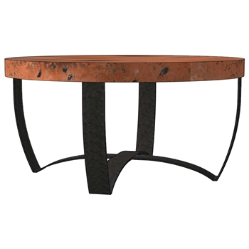 Round Strap Coffee Table Base Only Round Iron Coffee