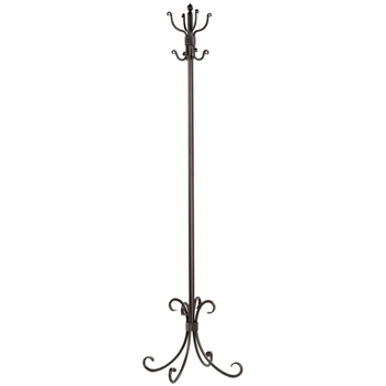 Breckenridge Standing Coat Rack Pictured In Natural Black Finish From Timelesswroughtiron