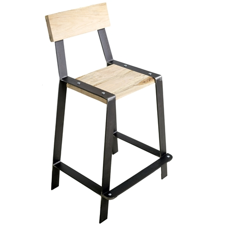 Urban Forge 25 Inch Iron Counter Stool Stone County