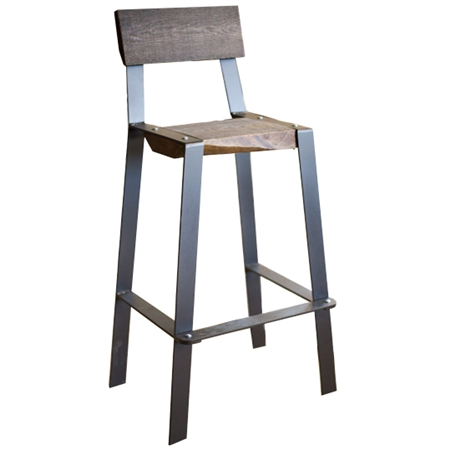 Farmhouse Iron Amp Wood Barstool Urban Forge 30 Inch Iron