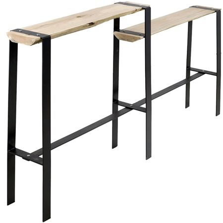 Urban Forge Iron Console Table Split Level Stone County