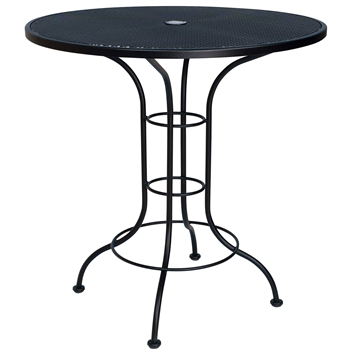 36 Quot Round Counter Height Outdoor Bistro Table With Mesh Top