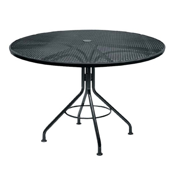Buy The Black Mesh 48 Quot Round Dining Table For Your Outdoor