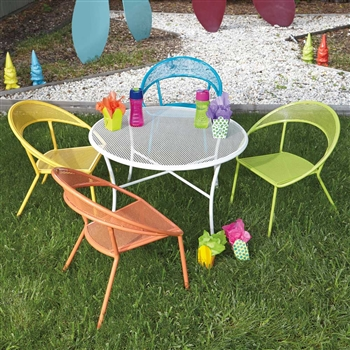 Kids Outdoor Dining Set Round Table Amp 4 Chairs