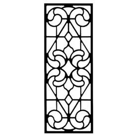 Wrought Iron Rectangular Wall Art Style 205
