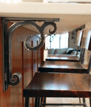 Shop all wrought iron corbels from Timeless Wrought Iron.